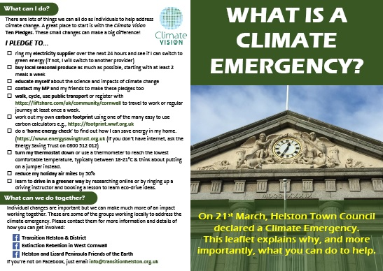 Leaflet: What is a Climate Emergency?