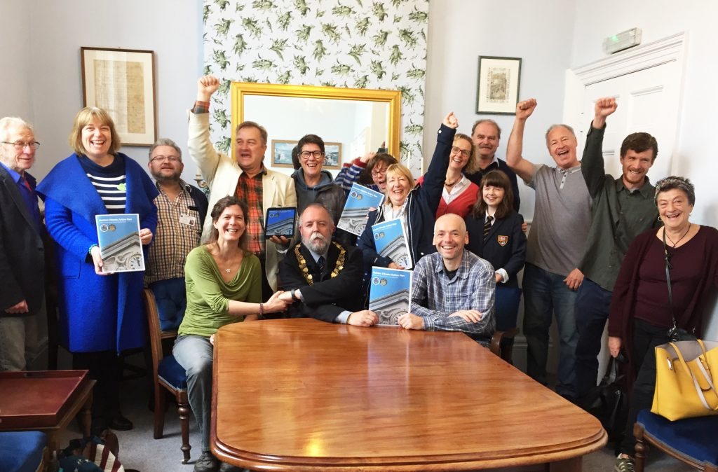 Mayor John Martin and other members of Helston Climate Action Group