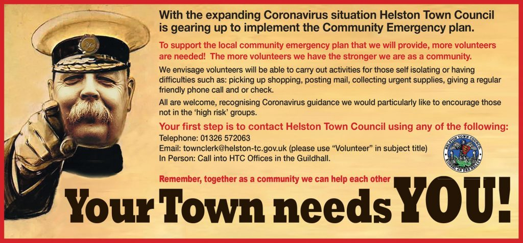Helston Town Council call for volunteers